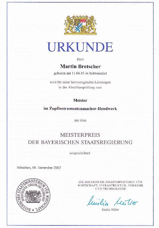 MEISTERPREIS DER BAYERISCHEN STAATSREGIERUNG